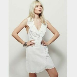 Free People Eyelet Embroidered Backless Dress S